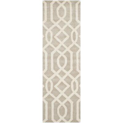 Schaub Grey/Ivory Area Rug Rug Size: Runner 26 x 8