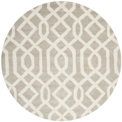 Schaub Grey/Ivory Area Rug Rug Size: Rectangle 83 x 11
