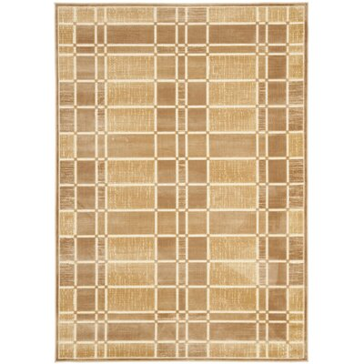 Scharff Taupe Area Rug Rug Size: Rectangle 76 x 106