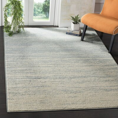 Schacher Slate/Cream Area Rug Rug Size: Runner 26 x 12