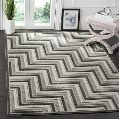 Schaefer Gray Outdoor Area Rug Rug Size: Runner 23 x 8