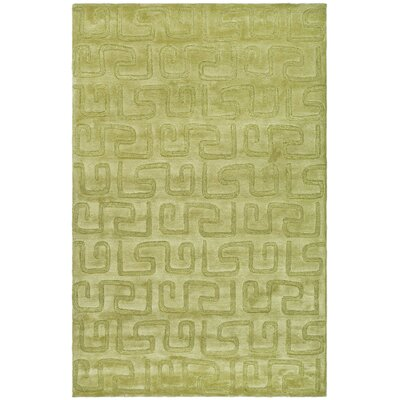 Schaub Hand-Tufted Green Area Rug Rug Size: Rectangle 96 x 136