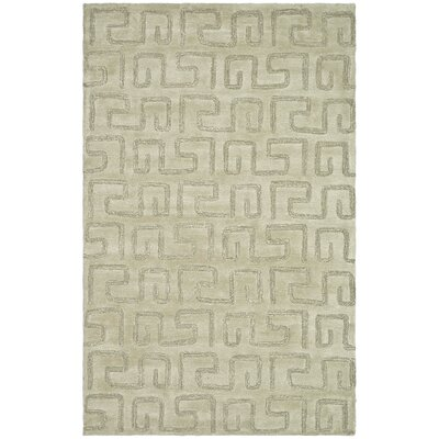 Schaub Hand-Tufted Taupe Area Rug Rug Size: Rectangle 96 x 136