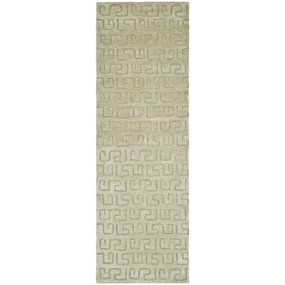 Schaub Hand-Tufted Taupe Area Rug Rug Size: Runner 26 x 10