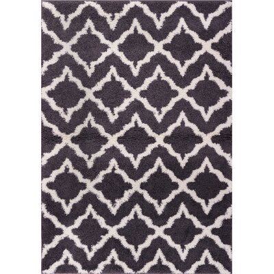 Australe Geometric Gray/White Area Rug Rug Size: 67 x 910