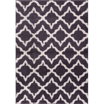 Australe Geometric Gray/White Area Rug Rug Size: 33 x 53