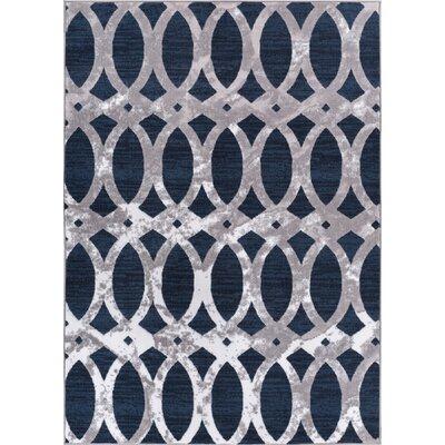 Ruark Blue Area Rug Rug Size: 93 x 126