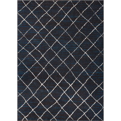 Preece Modern Moroccan Royal Blue Area Rug Rug Size: Rectangle 33 x 47