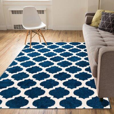 Rubino Blue Area Rug Rug Size: 710 x 910