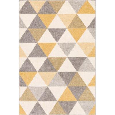 Ikin Gold/Beige Area Rug Rug Size: 33 x 5