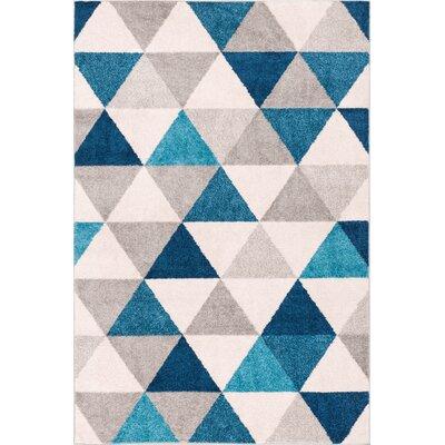 Ikin Blue/Gray Area Rug Rug Size: 33 x 5