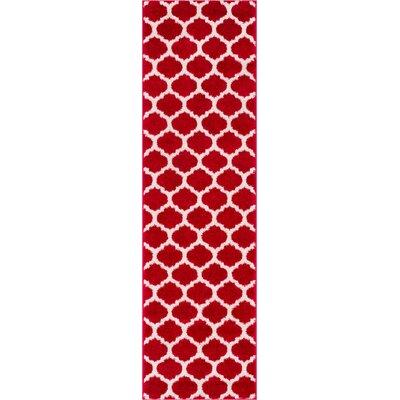 Rubino Red Area Rug Rug Size: Runner 2 x 73