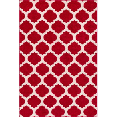 Rubino Red Area Rug Rug Size: 710 x 910