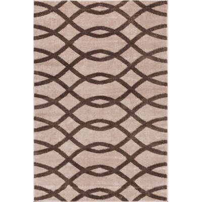 Manning Poofy Brown/Beige Area Rug Rug Size: 710 x 910