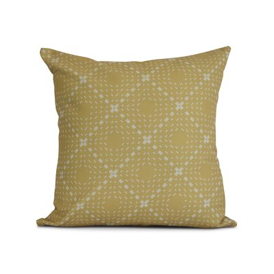 Shirley Outdoor Throw Pillow Size: 18 H x 18 W x 3 D, Color: Yellow