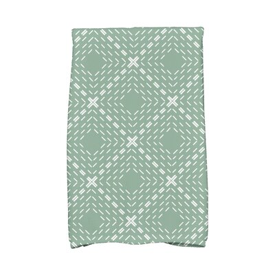 Dots and Dashes Hand Towel Color: Green