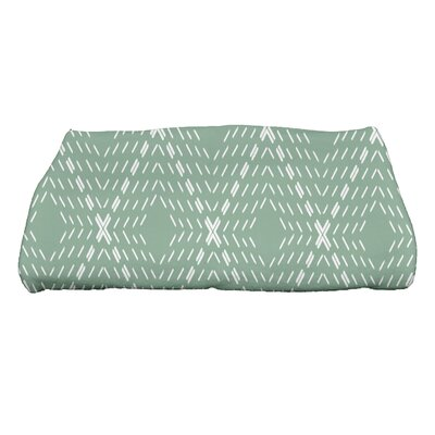 Dots and Dashes Bath Towel Color: Green