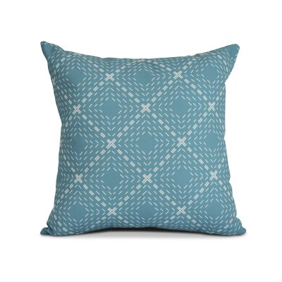 Shirley Throw Pillow Size: 18 H x 18 W x 3 D, Color: Aqua
