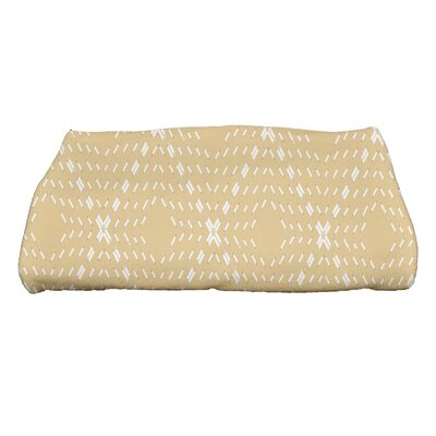 Dots and Dashes Bath Towel Color: Yellow