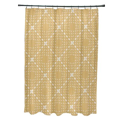 Shirley Dots and Dashes Shower Curtain Color: Yellow