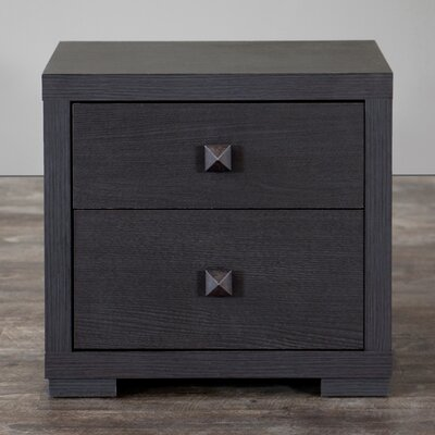 Haffey 2 Drawer Nightstand