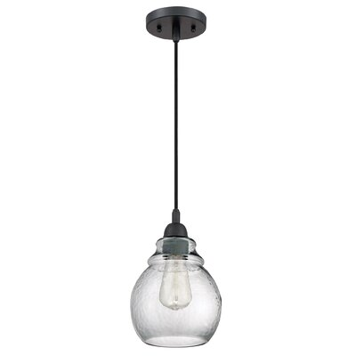 Austrinus Black 1-Light Mini Pendant