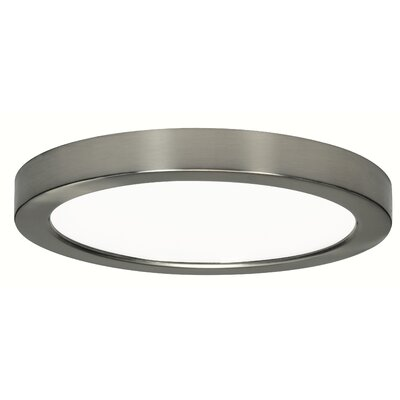 Authement 1-Light 3000K Flush Mount Finish: Brushed Nickel