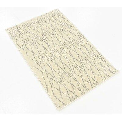Spady Ivory Area Rug Rug Size: 2 x 3