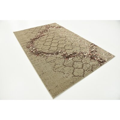 Steinbeck Dark Beige Area Rug Rug Size: Rectangle 5 x 8