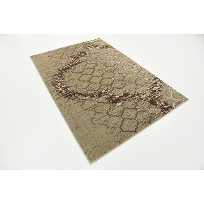 Steinbeck Dark Beige Area Rug Rug Size: Rectangle 4 x 6