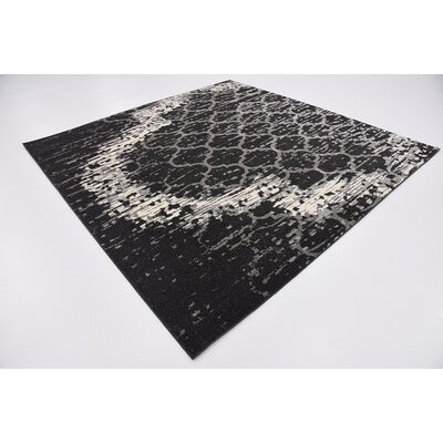 Steinbeck Charcoal Gray Area Rug Rug Size: Square 8
