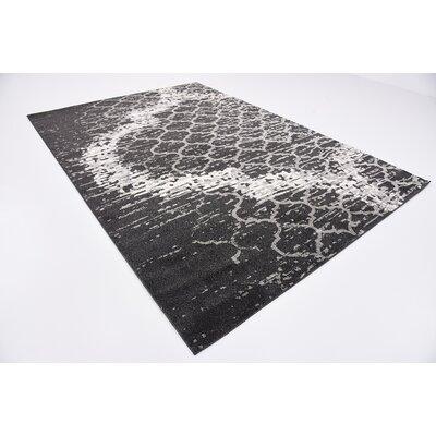 Steinbeck Charcoal Gray Area Rug Rug Size: 7 x 10