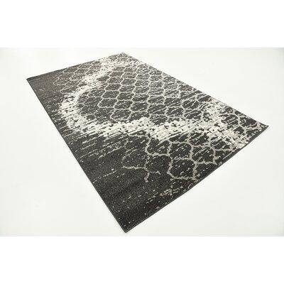 Steinbeck Charcoal Gray Area Rug Rug Size: 5 x 8