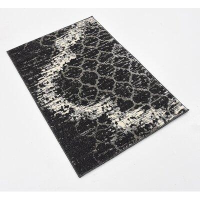 Steinbeck Charcoal Gray Area Rug Rug Size: 22 x 3