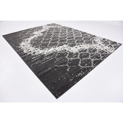 Steinbeck Charcoal Gray Area Rug Rug Size: 9 x 12