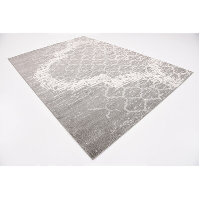 Steinbeck Light Gray Area Rug Rug Size: 7 x 10