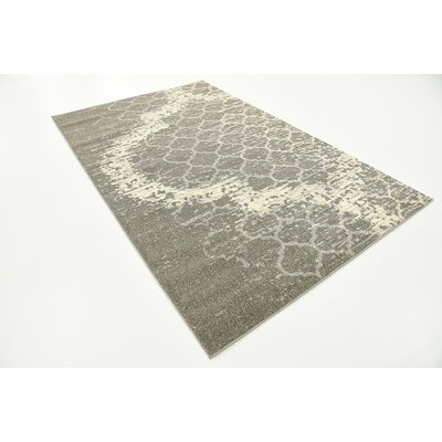 Steinbeck Light Gray Area Rug Rug Size: Rectangle 5 x 8