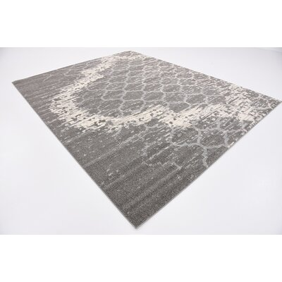 Steinbeck Light Gray Area Rug Rug Size: Rectangle 8 x 10