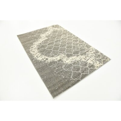 Steinbeck Light Gray Area Rug Rug Size: 4 x 6