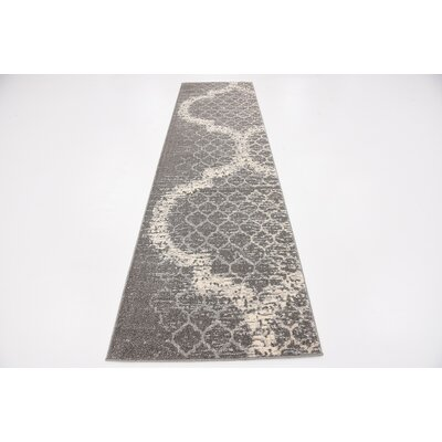 Steinbeck Light Gray Area Rug Rug Size: Runner 27 x 10