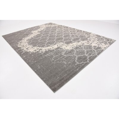 Steinbeck Light Gray Area Rug Rug Size: 9 x 12