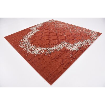 Steinbeck Terracotta Area Rug Rug Size: Square 8