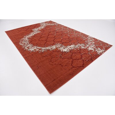 Steinbeck Terracotta Area Rug Rug Size: Rectangle 7 x 10