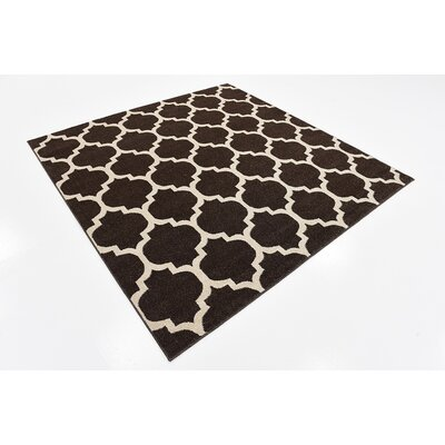Steinbeck Brown Area Rug Rug Size: Square 6