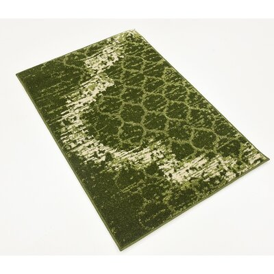 Steinbeck Green Area Rug Rug Size: 22 x 3