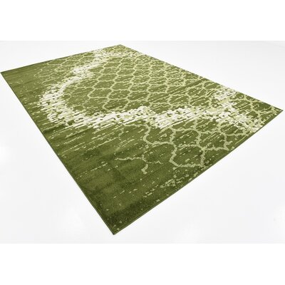 Steinbeck Green Area Rug Rug Size: 7 x 10