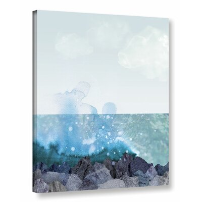 Sea Shore Graphic Art on Wrapped Canvas Size: 18