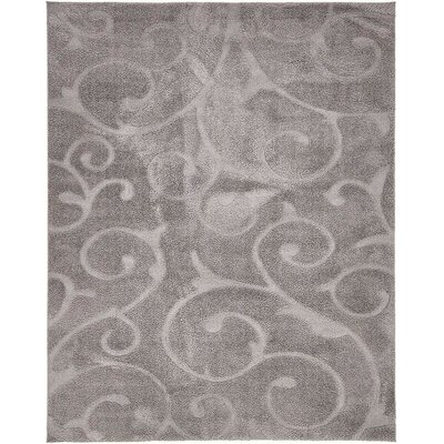 Scheffer Floral Dark Gray Area Rug Rug Size: 8 x 10