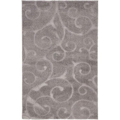 Scheffer Floral Dark Gray Area Rug Rug Size: 5 x 8