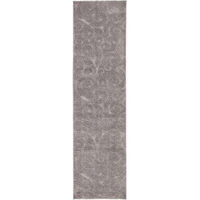 Scheffer Floral Dark Gray Area Rug Rug Size: Runner 27 x 10